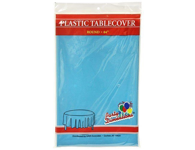 Aqua Blue Round Table Cover My Florida Party Rental