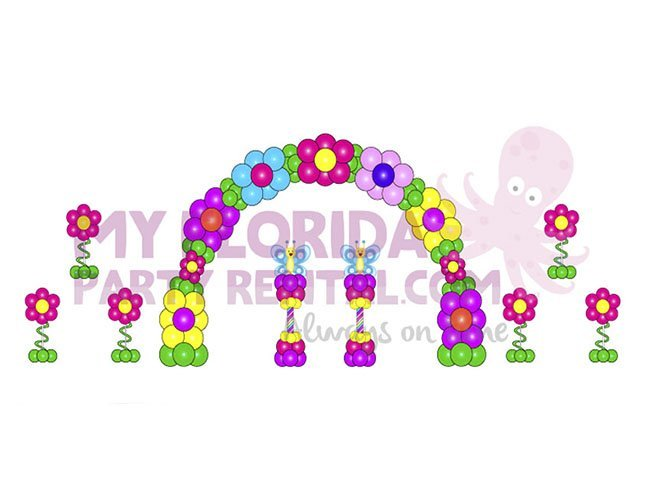 Flowers balloons decoration package my florida party rental for Balloon decoration packages