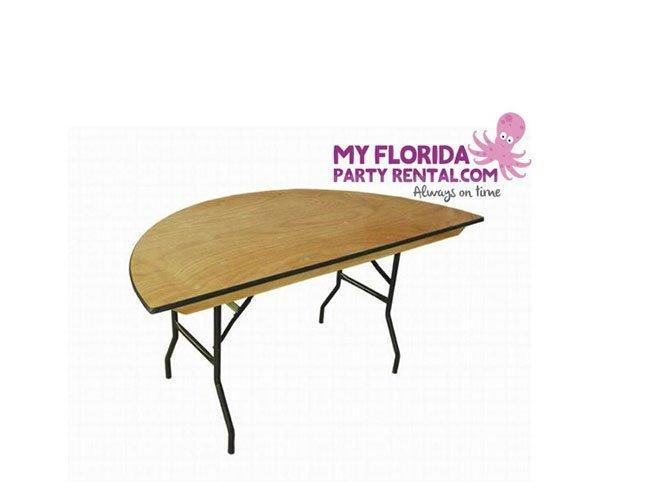 Half Moon Table My Florida Party Rental