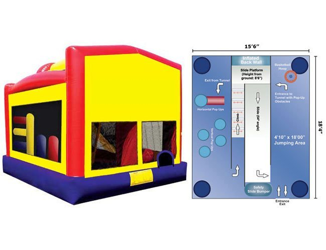 Big 5 In 1 Module Bounce House My Florida Party Rental