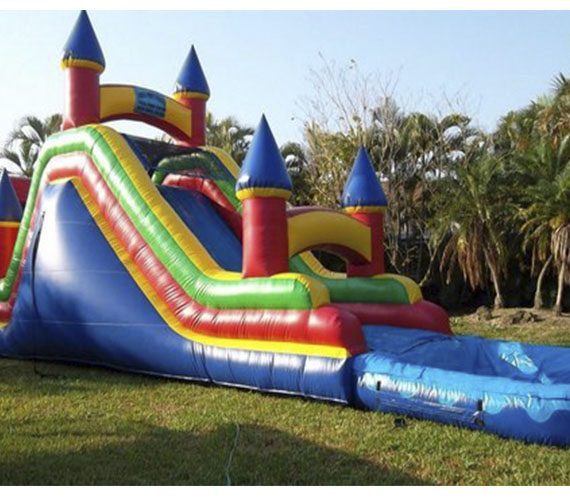 Inflatable Water Slide To Rent: Water Slide Imperial With Bounce House