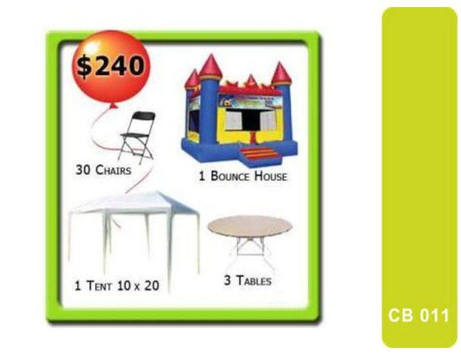 Bounce House Tent Tables And Chairs My Florida Party