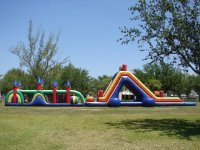 ENORMOUS WATER SLIDE WITH OBSTACLE