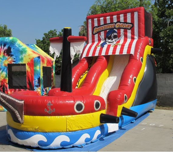 Inflatable Water Slide Party Rentals: Inflatable Slide Galley Pirate Ship