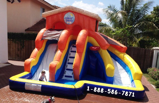 Splash Island Water Slide My Florida Party Rental