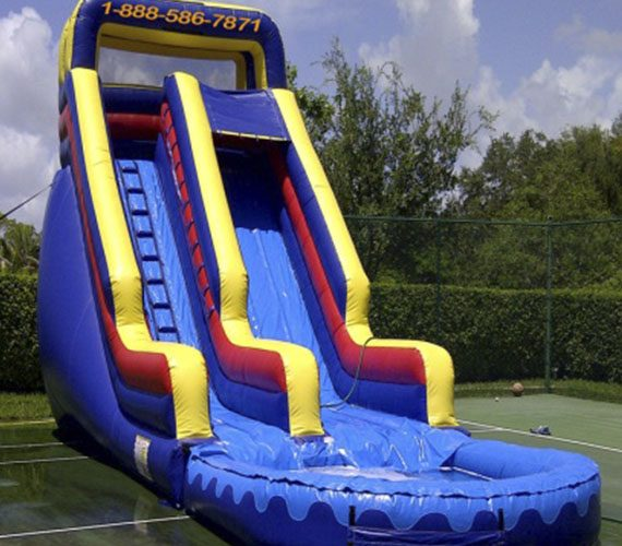 Inflatable Water Slide To Rent: 22 Feet Sunny Water Slide.
