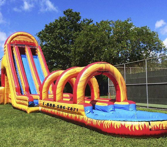 Inflatable Slide Rental Atlanta: Dual Volcano Water Slide
