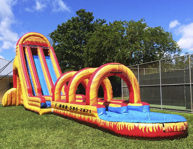 Dual Volcano Water Slide My Florida Party Rental
