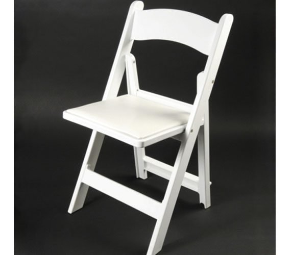 Resin White Folding Chairs Rental My Florida Party Rental