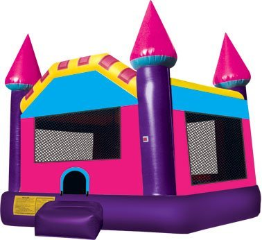 SMALL PINK BOUNCE HOUSE